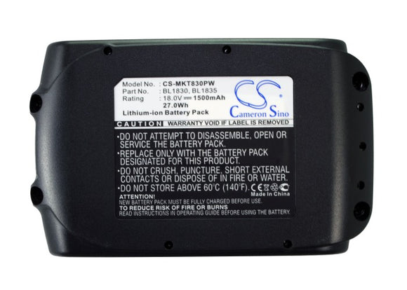 Battery for Makita XST01M 194204-5, 194205-3, 194309-1, 195608-4, 1963673, 19636