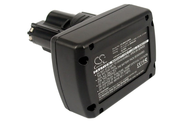 Battery for Milwaukee 2277-21NST 48-11-2401, 48-11-2402, C12 B, C12 BX, M12 12V