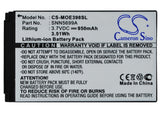Battery for Motorola ROKR E3 SNN5699A 3.7V Li-ion 950mAh