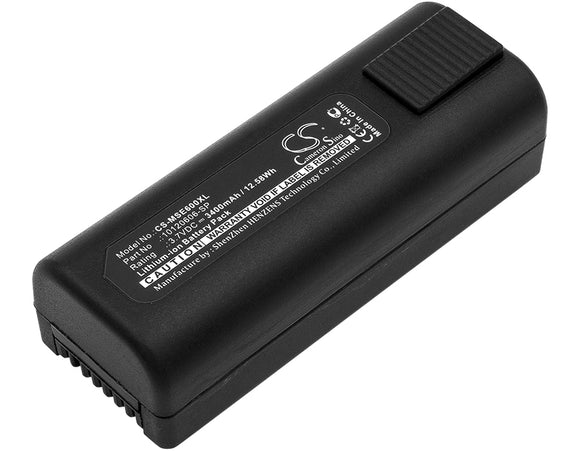 Battery for MSA E6000 TIC 10120606-SP 3.7V Li-ion 3400mAh / 12.58Wh