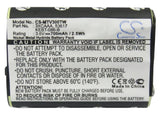 Battery for Motorola FV500 3XCAAA, 53617, KEBT-086-B 3.6V Ni-MH 700mAh / 2.52Wh