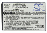 Battery for Motorola Theory BT7X, SNN5876, SNN5876A 3.7V Li-ion 1300mAh