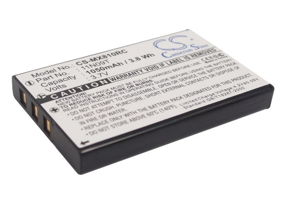 Battery for Universal MX-810 BATTMX880, NC0910, UT-BATTMX880 3.7V Li-ion 1050mAh