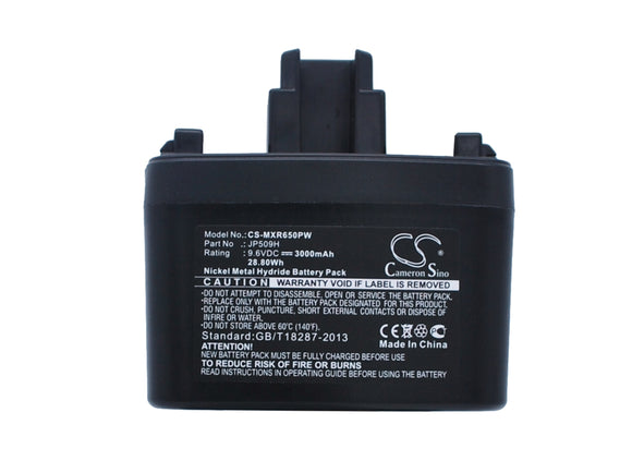 Battery for Max Rebar RB655 JP509H 9.6V Ni-MH 3000mAh / 28.80Wh