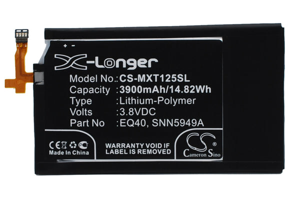 Battery for Motorola Quark EQ40, SNN5949A 3.8V Li-Polymer 3900mAh / 14.82Wh