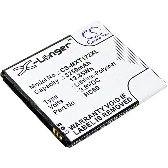 Battery for Motorola Moto C Plus Dual SIM HC60 3.8V Li-Polymer 3250mAh / 12.35Wh