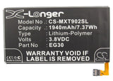 Battery for Motorola Droid mini EG30, SNN5916A 3.8V Li-Polymer 1940mAh / 7.37Wh