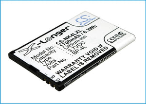 Battery for ACE Caracas N4L120J 3.7V Li-ion 1700mAh / 6.29Wh