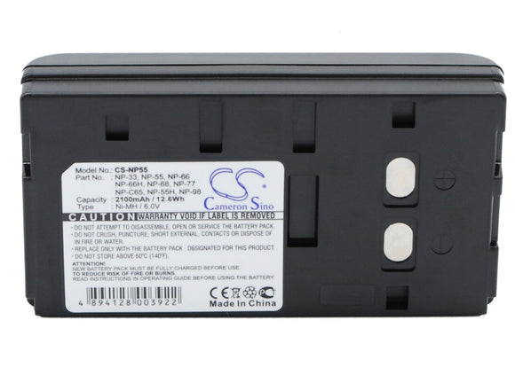 Battery for Sony CCD-TR305E NP-33, NP-55, NP-66, NP-66H, NP-68, NP-77, NP-98 6V