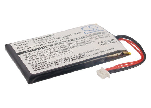 Battery for Insignia NS-NCV20 604060(140) 3.7V Li-Polymer 1400mAh / 5.18Wh