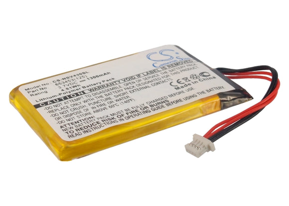 Battery for Insignia NS-NCV43 653453(125) 3.7V Li-Polymer 1300mAh / 4.81Wh