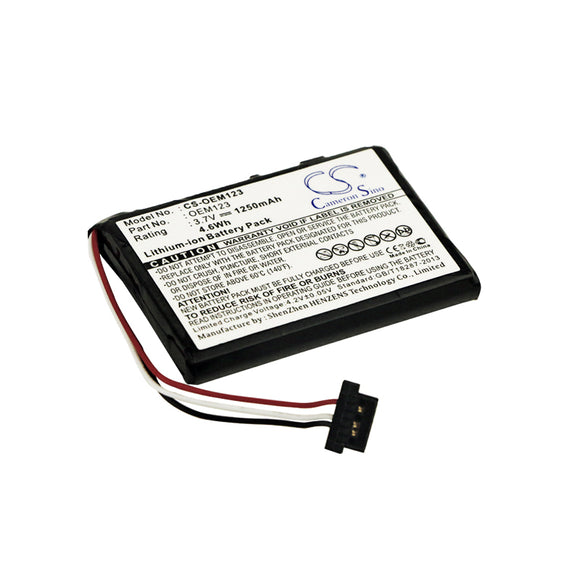 Battery for Custom Battery Packs CS-OEM123 3.7V Li-ion 1250mAh / 4.63Wh