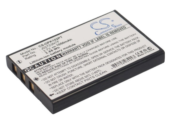 Battery for Optoma PICO PK102 AP-60, Z60 3.7V Li-ion 1050mAh / 3.88Wh
