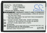 Battery for Alcatel One Touch S521A B-U8C, CAB2170000C1, CAB2170000C2, CAB217000