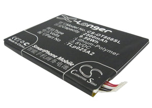 Battery for Alcatel One Touch Scribe Easy CAC2500013C2, TLp025A2, TLp025A4 3.8V