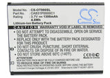 Battery for Alcatel One Touch 990A BY71, CAB31P0000C1, CAB31P0001C1, TB-4T005820