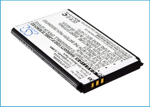 Battery for Alcatel One Touch C630 B-C7, T50000157AAAA, T5001418AAAA 3.7V Li-ion