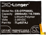 Battery for Alcatel A50 LTE CAC2710009CJ, TLp027AJ 3.85V Li-Polymer 2800mAh / 10