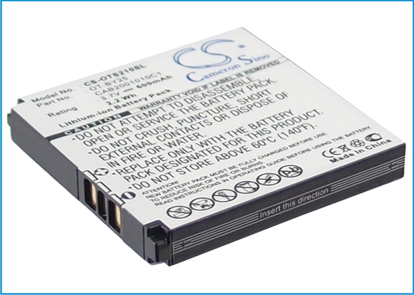 Battery for Alcatel One Touch S215 B-U81, CAB2001010C1, CAB2001011C1, OT-BY25 3.