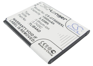 Battery for Alcatel One Touch View CAB1500008C1, TLiB4AD 3.7V Li-ion 1500mAh / 5