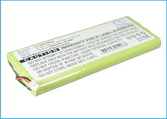 Battery for TOPAN TP-AVC701 14.4V Ni-MH 2000mAh / 28.80Wh