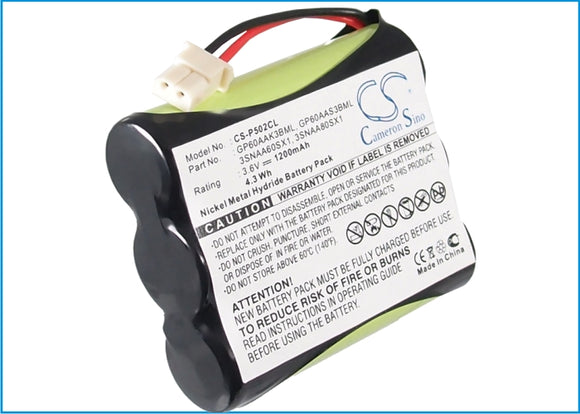 Battery for Audiovox GX2400 3.6V Ni-MH 1200mAh / 4.32Wh