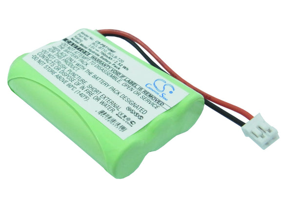 Battery for Mobilteil BCL-D20 BCL-BT10, BCL-BT20 3.6V Ni-MH 700mAh / 2.52Wh
