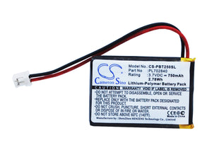 Battery for Philips BT64B PL702840 3.7V Li-Polymer 750mAh / 2.78Wh