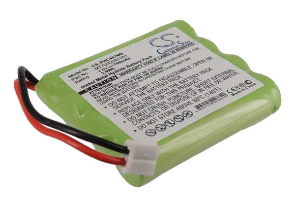 Battery for Tomy Walkabout Premier Advance 4.8V Ni-MH 700mAh