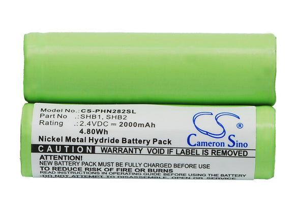 Battery for Windmere RR-3 2.4V Ni-MH 2000mAh / 4.80Wh