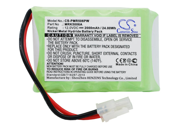 Battery for Robomow RL2000 MRK5002, MRK5002C, MRK5006A 12V Ni-MH 2000mAh / 24.00