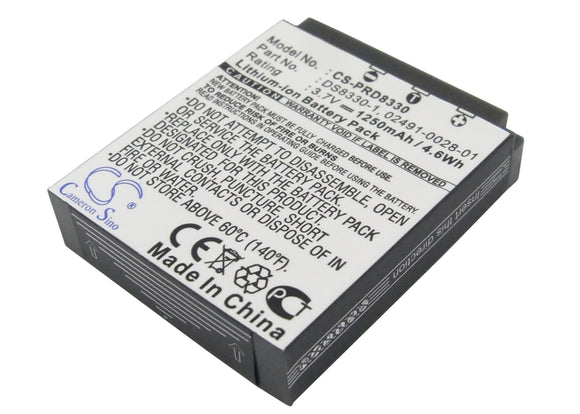 Battery for Acer CR-8530 02491-0028-01, BT.8530A.001 3.7V Li-ion 1250mAh / 4.63W