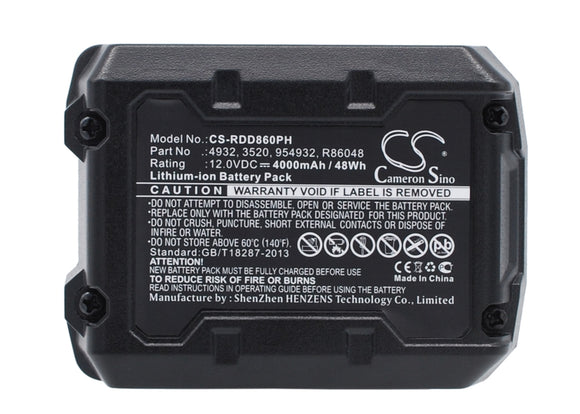 Battery for AEG BSS 12C 3520, 3526, 4932, 584932, 954932, L1215, L1215P, L1215R,