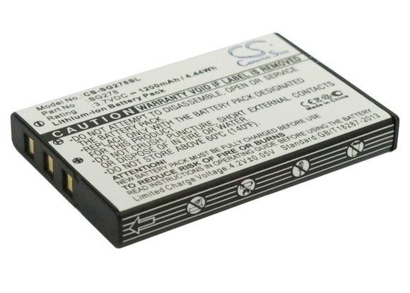 Battery for Zycast SG-278 3.7V Li-ion 1200mAh / 4.44Wh