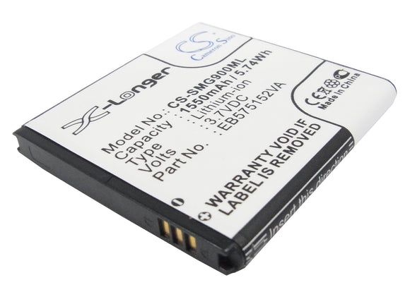 Battery for AT&T SGH-i897 EB575152LA, EB575152LU, EB575152VA, EB575152VU, G7 3.7