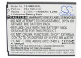 Battery for AT&T Galaxy SIII 3.7V Li-ion 1400mAh / 5.18Wh