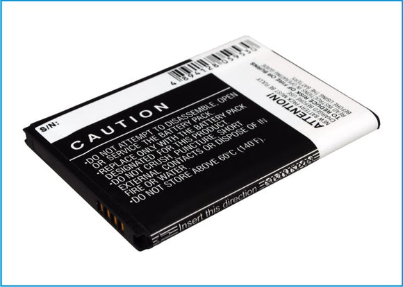 Battery for AT&T Galaxy Exhilarate 4G EB-L1G5HBA, EB-L1G5HBABXAR, EB-L1G5HVA 3.7