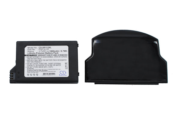 Battery for Sony PSP-3004 PSP-S110 3.7V Li-Polymer 1800mAh / 6.66Wh