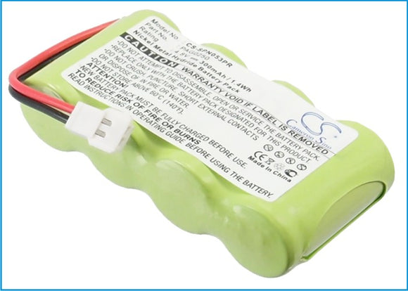 Battery for Signologies Perpect Pager PAG0250 4.8V Ni-MH 300mAh