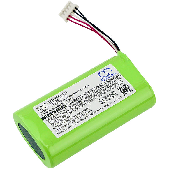 Battery for Sony SRS-X3 ST-01 7.4V Li-ion 2600mAh / 19.24Wh