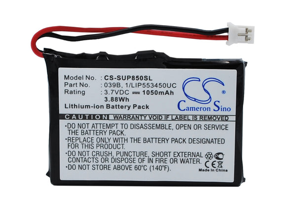 Battery for Microtracker 01-065-0624-0 3.7V Li-ion 1050mAh
