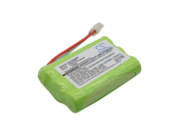 Battery for TDK A08 3AAA-HHC 3.6V Ni-MH 700mAh / 2.52Wh