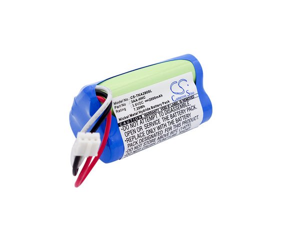 Battery for TDK Life on Record A28 Trek Flex 3AA-HHC 3.6V Ni-MH 2000mAh / 7.20Wh