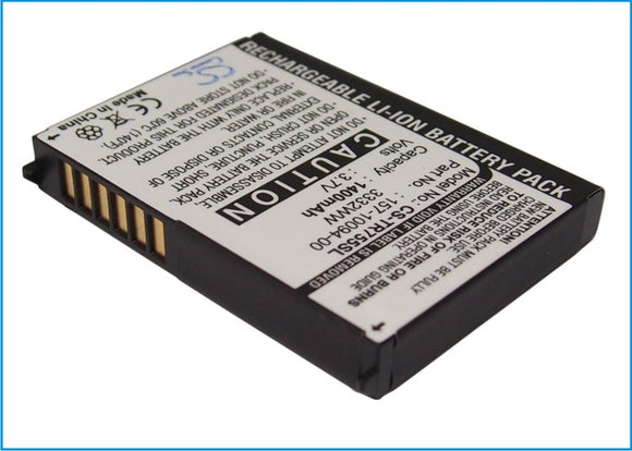Battery for Palm Treo 755p 157-10094-00, 3-1000181-1, 3332WW, 35H00092-00M, DC07