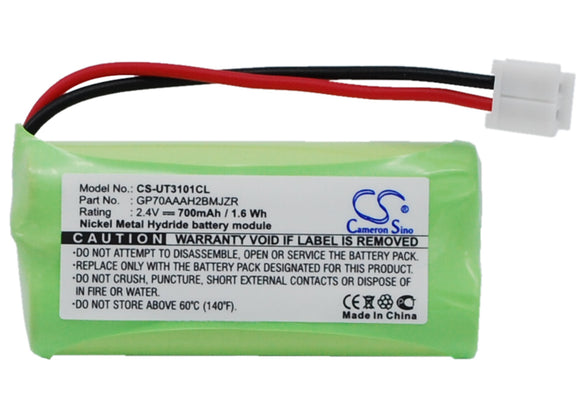 Battery for AT&T TL92378 2SNAAA70H-SX2F, 89-1335-00, BT8001 2.4V Ni-MH 700mAh /