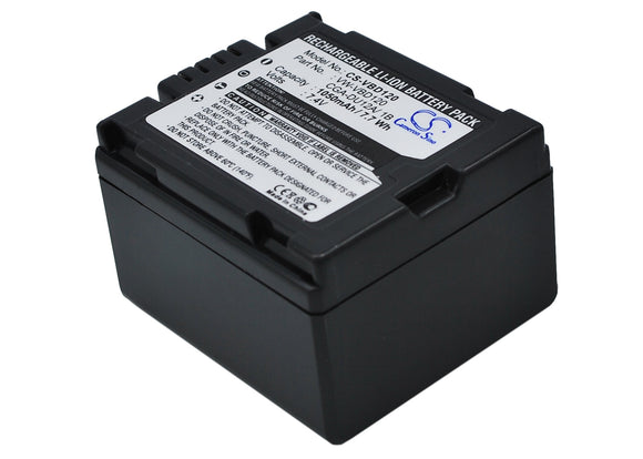 Battery for Panasonic DZ-MV780E CGA-DU12, CGA-DU12A/1B, VW-VBD120 7.4V Li-ion 10
