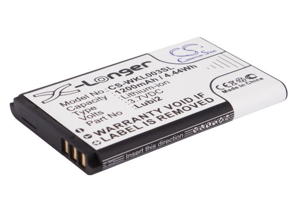 Battery for Noktel N72 3.7V Li-ion 1200mAh / 4.44Wh