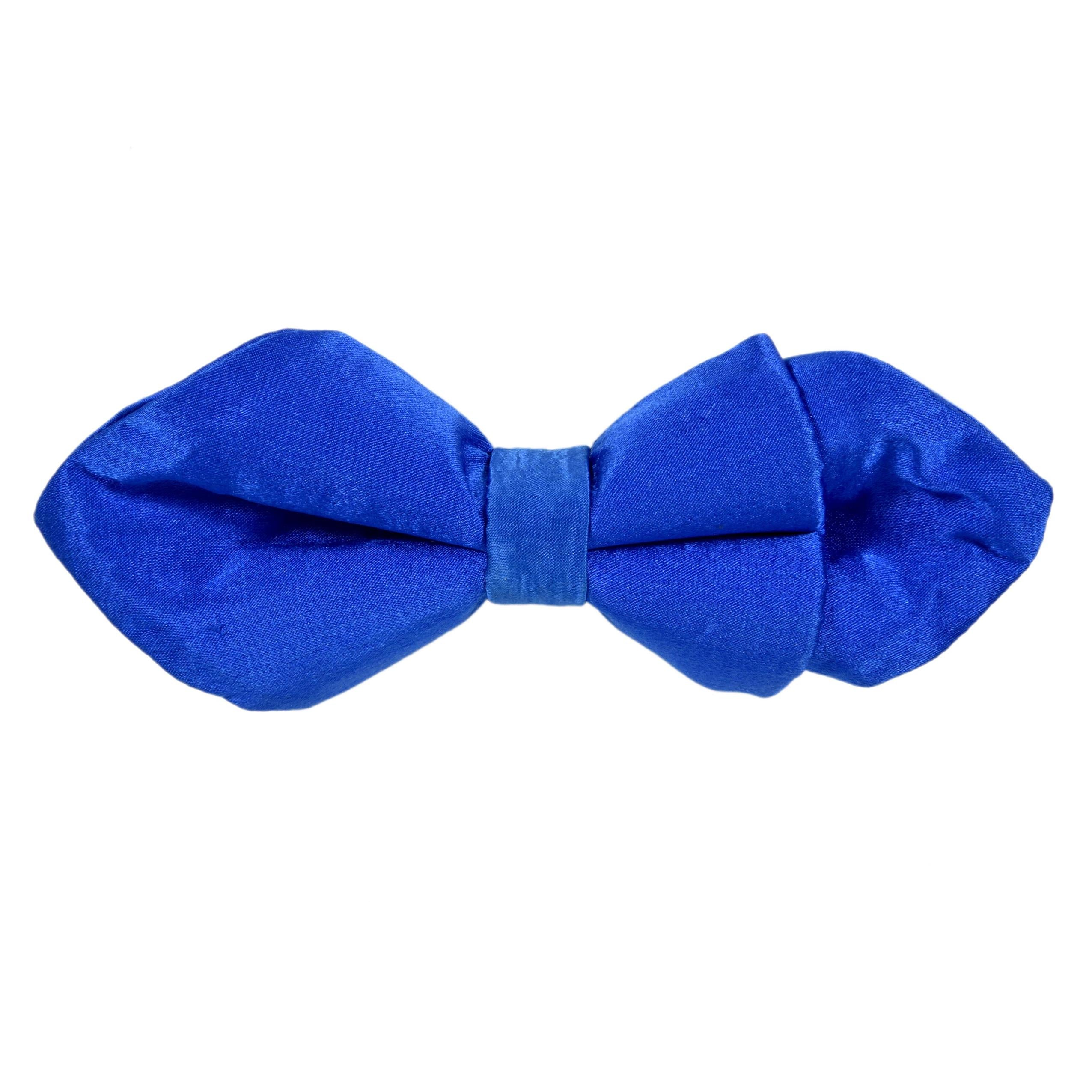 ROYAL BLUE VELVET DIAMOND BOW TIE