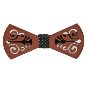 PATTERNED WOOD BOW TIE