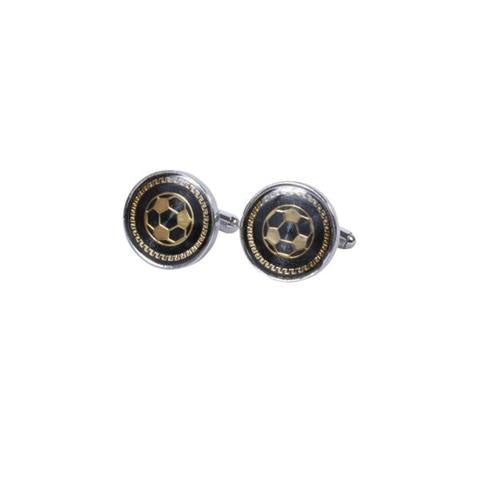 FOOTBALL PATTERN METAL CUFFLINKS